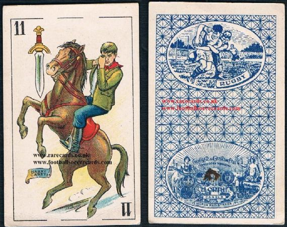1920s Harry Carey cowboy Spanish playing card